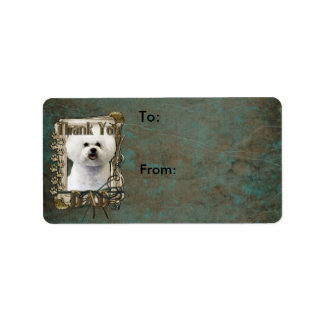 Thank You - Stone Paws - Bichon Frise - Dad Personalized Address Labels