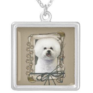 Thank You - Stone Paws - Bichon Frise Custom Necklace