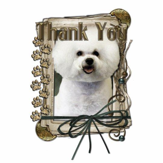 Thank You - Stone Paws - Bichon Frise Statuette