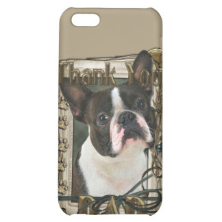 Thank You - Stone Paws - Boston Terrier - Dad Cover For iPhone 5C