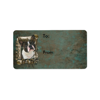 Thank You - Stone Paws - Boston Terrier - Dad Custom Address Labels