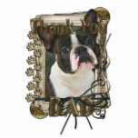 Thank You - Stone Paws - Boston Terrier - Dad Acrylic Cut Out