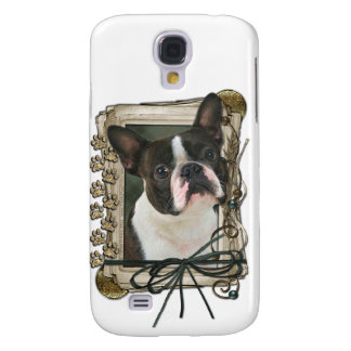 Thank You - Stone Paws - Boston Terrier Samsung Galaxy S4 Cover