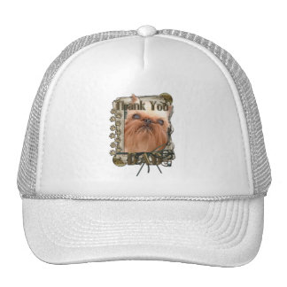 Thank You - Stone Paws - Brussels Griffon - Dad Hats