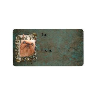 Thank You - Stone Paws - Brussels Griffon - Dad Custom Address Label