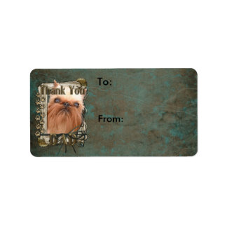 Thank You - Stone Paws - Brussels Griffon - Dad Label