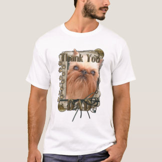 Thank You - Stone Paws - Brussels Griffon - Dad T-Shirt