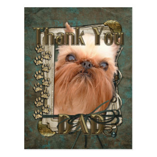 Thank You - Stone Paws - Brussels Griffon Postcard