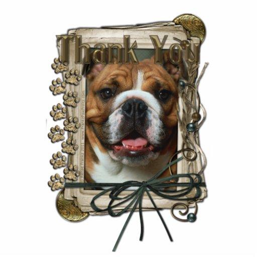 Thank You - Stone Paws - Bulldog Acrylic Cut Out