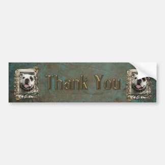 Thank You - Stone Paws - Bulldog Bumper Sticker