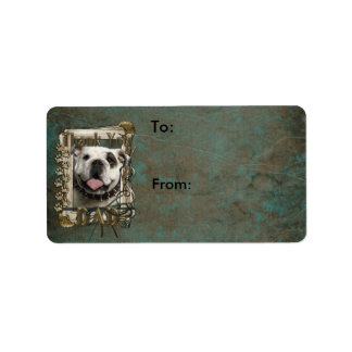 Thank You - Stone Paws - Bulldog - Dad Label