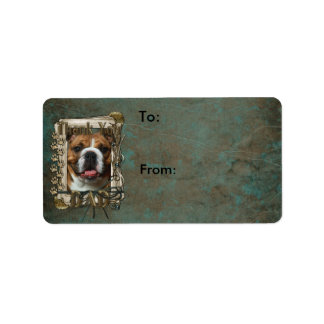 Thank You - Stone Paws - Bulldog - Dad Address Label