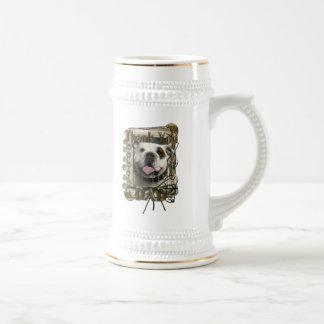 Thank You - Stone Paws - Bulldog - Dad Coffee Mug