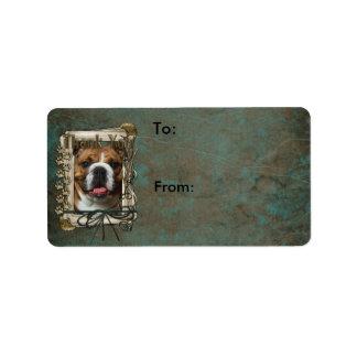 Thank You - Stone Paws - Bulldog Personalized Address Label