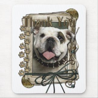 Thank You - Stone Paws - Bulldog Mouse Pad