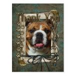 Thank You - Stone Paws - Bulldog Postcards