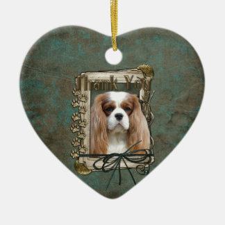 Thank You - Stone Paws - Cavalier Ceramic Ornament