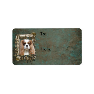 Thank You - Stone Paws - Cavalier - Dad Address Label