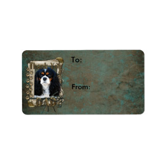 Thank You - Stone Paws - Cavalier - Dad Personalized Address Label