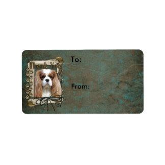 Thank You - Stone Paws - Cavalier Address Label