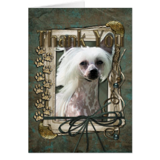 Thank You - Stone Paws - Chinese Crested - Kahlo Cards