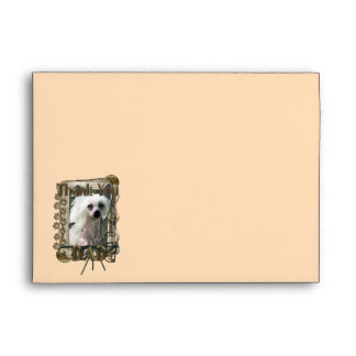 Thank You - Stone Paws - Chinese Crested Kahlo Dad Envelope