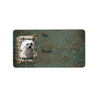 Thank You - Stone Paws - Chinese Crested - Kahlo Label
