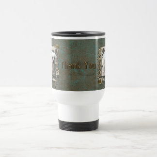 Thank You - Stone Paws - Chinese Crested - Kahlo 15 Oz Stainless Steel Travel Mug