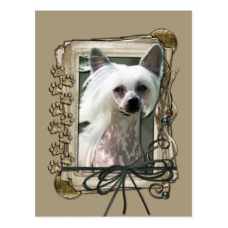 Thank You - Stone Paws - Chinese Crested - Kahlo Postcard