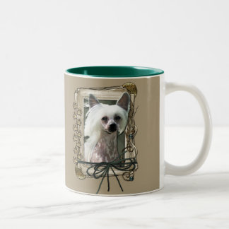 Thank You - Stone Paws - Chinese Crested - Kahlo Two-Tone Coffee Mug