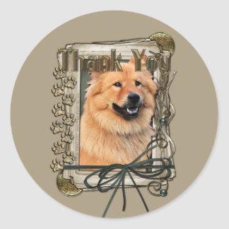 Thank You - Stone Paws - Chow Chow - Cinny Classic Round Sticker