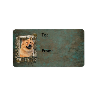 Thank You - Stone Paws - Chow Chow - Cinny - Dad Personalized Address Label