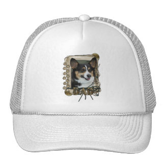 Thank You - Stone Paws - Corgi - Dad Mesh Hats