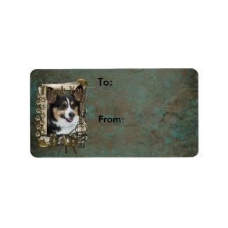 Thank You - Stone Paws - Corgi - Dad Custom Address Labels