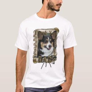 Thank You - Stone Paws - Corgi - Dad T-Shirt