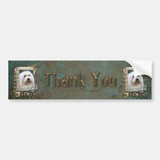 Thank You - Stone Paws - Coton de Tulear - Dad Car Bumper Sticker