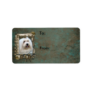 Thank You - Stone Paws - Coton de Tulear - Dad Custom Address Labels