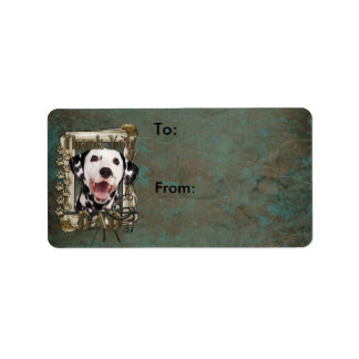 Thank You - Stone Paws - Dalmatian - Dad Personalized Address Labels