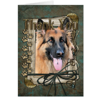 Thank You - Stone Paws - German Shepherd - Chance Card