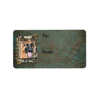 Thank You - Stone Paws - German Shepherd - Chance Label