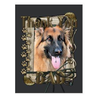 Thank You - Stone Paws - German Shepherd - Chance Postcard