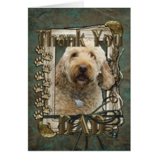 Thank You - Stone Paws - GoldenDoodle - Dad Card