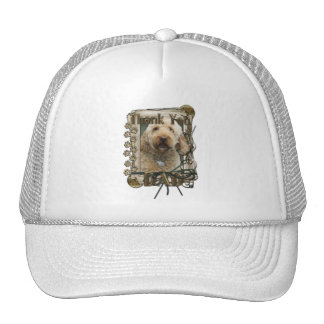 Thank You - Stone Paws - GoldenDoodle - Dad Mesh Hats