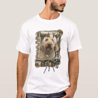 Thank You - Stone Paws - GoldenDoodle - Dad T-Shirt