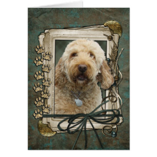 Thank You - Stone Paws - GoldenDoodle Greeting Card