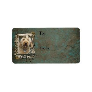 Thank You - Stone Paws - GoldenDoodle Custom Address Label