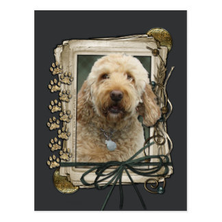 Thank You - Stone Paws - GoldenDoodle Postcard