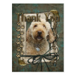 Thank You - Stone Paws - GoldenDoodle Postcards