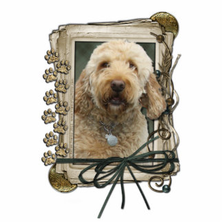 Thank You - Stone Paws - GoldenDoodle Statuette