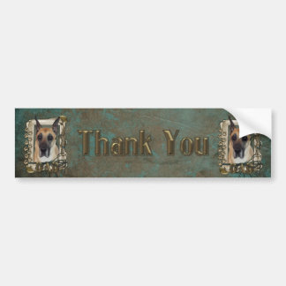 Thank You - Stone Paws - Great Dane - Dad Bumper Sticker